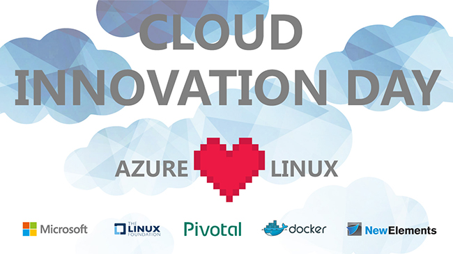 Cloud innovations Day mit Pivotal, Docker, Microsoft, Linux Forndation, IT-Schulungen.com und New  Elements